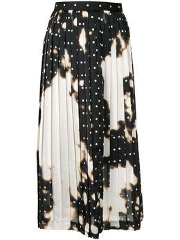 Maison Mihara Yasuhiro плиссированная юбка миди с выбеленным эффектом B04SK343