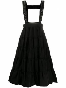 Comme Des Garcons Noir Kei Ninomiya расклешенная юбка на лямках 3EA012051
