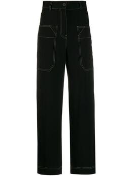 Alberto Biani брюки прямого кроя с контрастной строчкой CC814AC0028