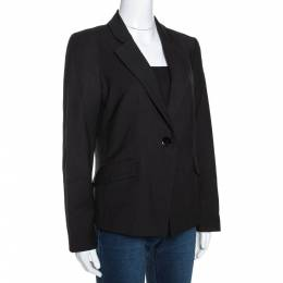 Emporio Armani Black Wool Single Buttoned Jacket M 289673