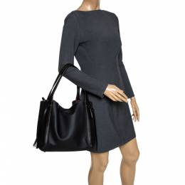 Coach Black Suede and Leather Harmony Shoulder Bag 289760