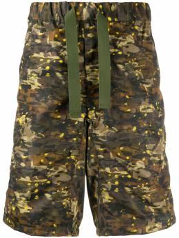 White Mountaineering шорты Easy с камуфляжным принтом WM2071413