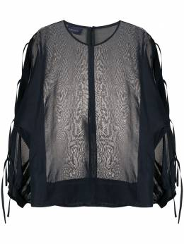 Eudon Choi прозрачная блузка с завязками сбоку EC20S4T006HIRO