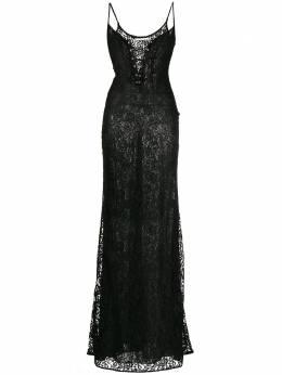 Alessandra Rich кружевное вечернее платье с корсетом FAB2040P2814