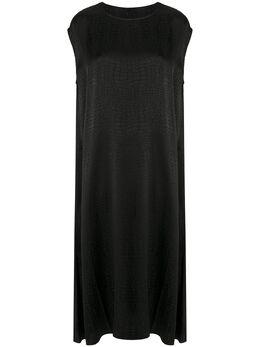 Vetements фактурное платье миди WAH21DR0892605