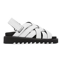 Rosetta Getty White Woven Sandals 2220074623