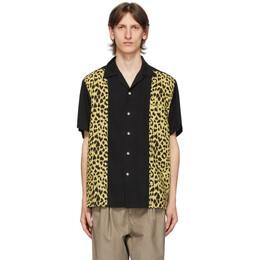 Wacko Maria Black and Beige Two-Tone 50s Shirt 20SS-WMS-OC03