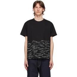 Fumito Ganryu Black Graphic T-Shirt Fu3-Cu-104
