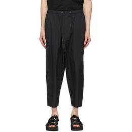 Fumito Ganryu Black Tapered Trousers Fu3-Pa-103