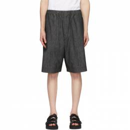 Fumito Ganryu Black Denim Light Ounce Shorts Fu3-Pa-104