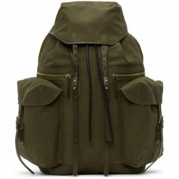 Dries Van Noten Khaki Canvas Backpack 21503-651-606
