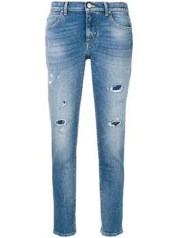 Jacob Cohen укороченные джинсы с потертой отделкой 08769W74951