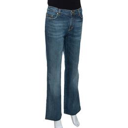 Roberto Cavalli Blue Medium Wash Denim Straight Leg Jeans L 289871