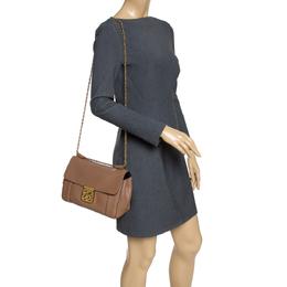 Chloe Brown Leather Medium Elsie Shoulder Bag 289888