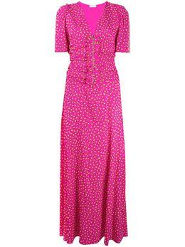 P.a.r.o.s.h. платье макси с оборками и принтом SEARTD723171
