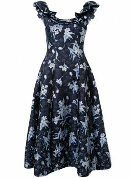 Delpozo платье с оборками 4200605224