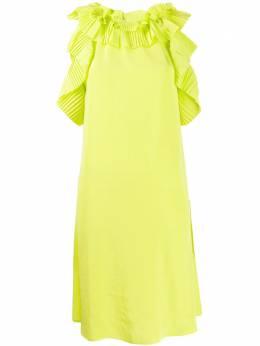 P.a.r.o.s.h. платье миди с оборками POTEREXD723170