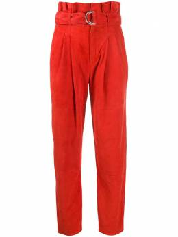 P.a.r.o.s.h. брюки с завышенной талией и поясом MASUEDED230626