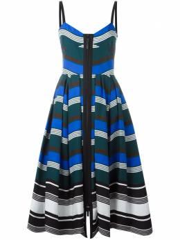 Fendi платье с волнистым узором FD91649BL