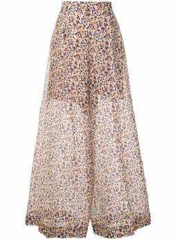 Delpozo брюки палаццо с принтом 4201508101