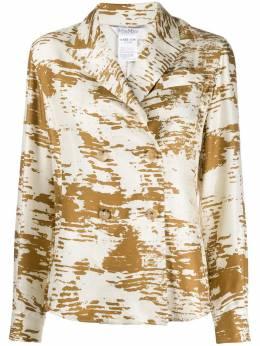 Max Mara блейзер-рубашка с абстрактным принтом 11110601097