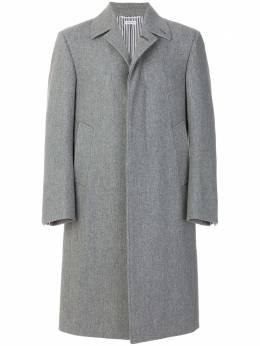 Thom Browne классическое однобортное пальто 'Melton' MOC766A00286