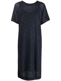 Brunello Cucinelli трикотажное платье миди M10572A90C7186