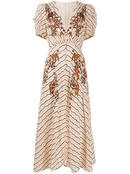 Saloni платье Lea с принтом LEADRESS1740