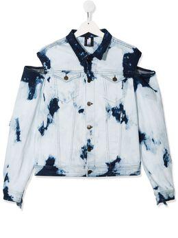 Cinzia Araia Kids джинсовая куртка с открытыми плечами GC1105
