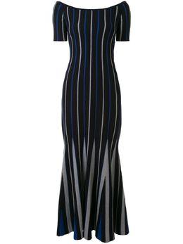Gabriela Hearst трикотажное платье макси в полоску 220913A002