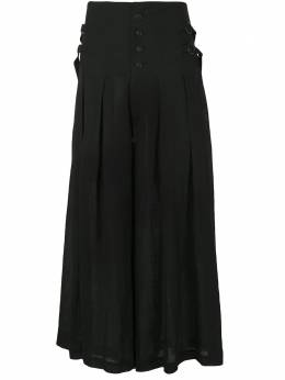 Yohji Yamamoto юбка со складками и пряжками FNP03301