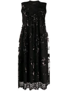 Simone Rocha платье миди с пайетками TS2760553