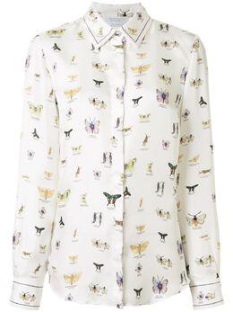 Gabriela Hearst рубашка с принтом Butterfly 220100P012