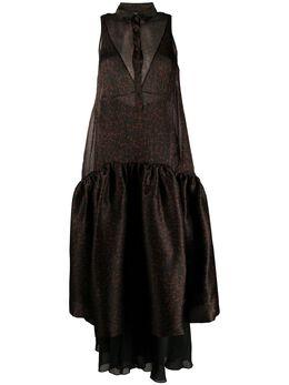 Simonetta Ravizza платье макси Jerry с анималистичным принтом JERRYG