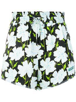 Off-White шорты с цветочным принтом OWCB019R188460299940