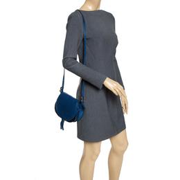 Chloe Blue Leather Mini Marcie Crossbody Bag 289883