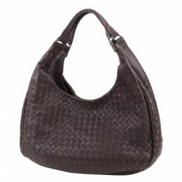 Bottega Veneta brown Intrecciato Leather Campana Hobo Bag 286853
