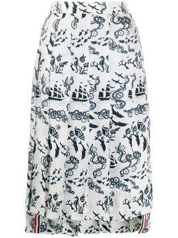 Thom Browne плиссированная юбка с принтом FGC400A06354