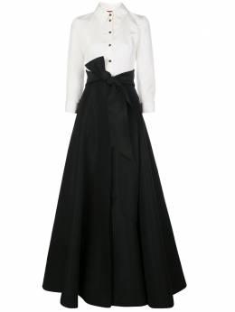 Carolina Herrera платье-рубашка макси с поясом ICN11N701SFA
