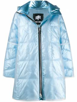 Ienki Ienki пальто-пуховик оверсайз с блестками RAINCOATCROPPEDPYRAMIDE