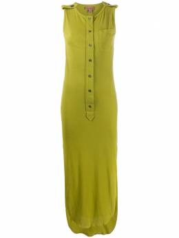 Romeo Gigli Pre-Owned платье миди 1990-х годов на пуговицах ROM280E