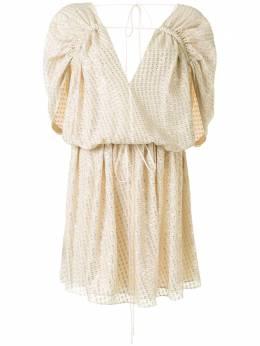 Stella McCartney платье с эффектом металлик 600940SOA45
