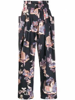 Vivetta брюки с цветочным узором и поясом B0610133