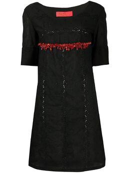 A.N.G.E.L.O. Vintage Cult платье 1990-х годов с вышивкой и бисером ACULT250VI