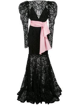 Carolina Herrera платье с цветочным вырезным узором R2011N720SCE