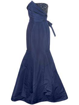 Carolina Herrera декорированное платье без бретелей R2011E706SFA