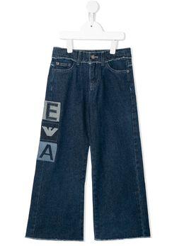 Emporio Armani Kids широкие джинсы с нашивкой-логотипом 3H3J332DSNZ