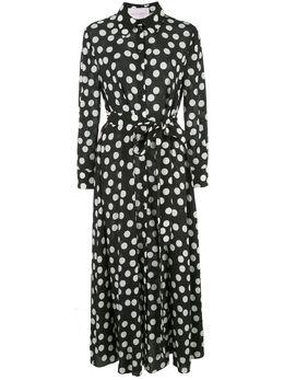 Carolina Herrera длинное платье-рубашка в горох R2011N553FDR