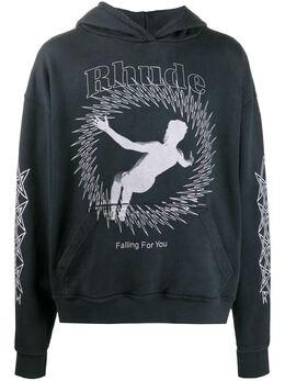 Rhude худи Falling For You с логотипом RHU07MS20037