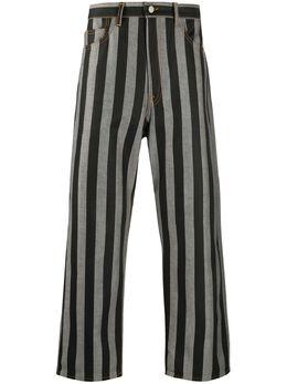 Sunnei полосатые брюки прямого кроя MT03ACR05